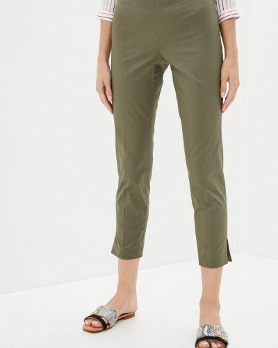 Повседневные брюки хаки Trussardi Collection
