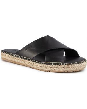 Sandały skórzane - czarne Quazi