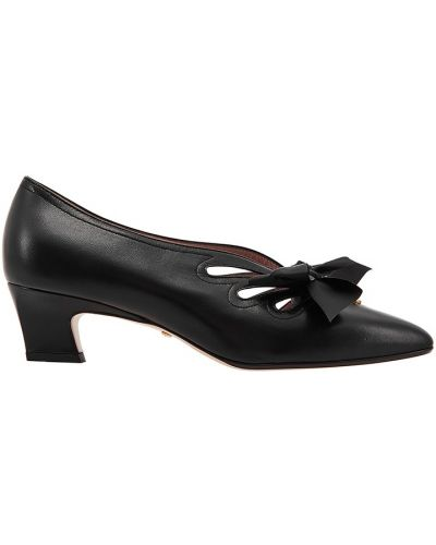 Туфли на каблуке черные кожаные Gucci