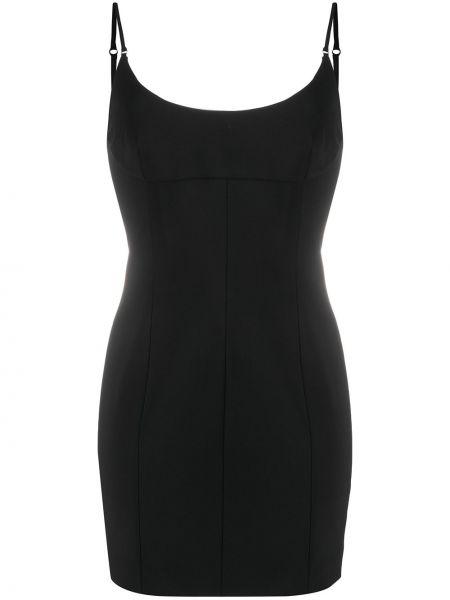 Czarny z paskiem wyposażone sukienka na paskach Alexander Wang