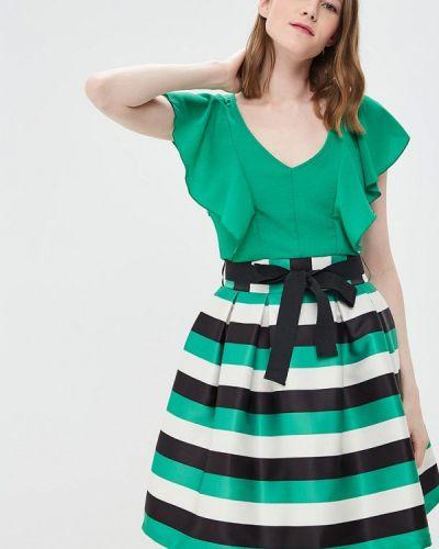Прямое зеленое платье Rinascimento