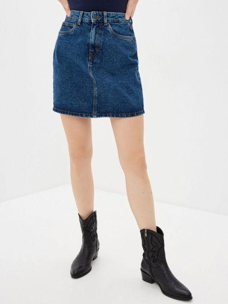 Джинсовая юбка синяя весенняя Vero Moda