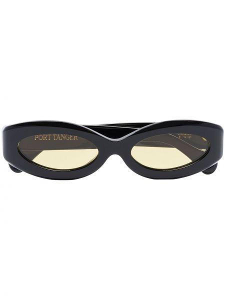 Czarne okulary srebrne Port Tanger