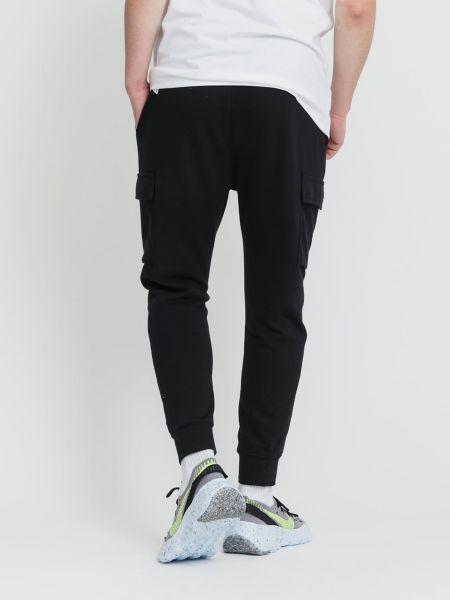 Черные брюки карго с поясом с манжетами Nike