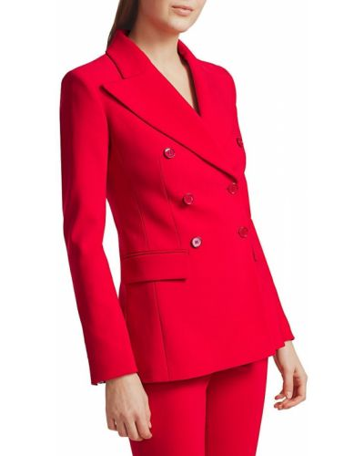 Малиновый удлиненный пиджак двубортный с карманами Michael Kors