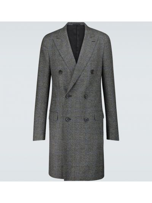 Brązowy płaszcz wełniany Lanvin