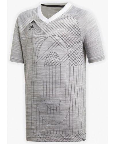 Серая футболка спортивная Adidas