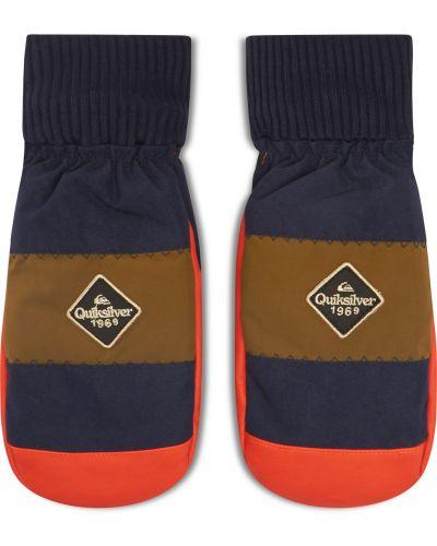 Pomarańczowe rękawiczki narciarskie Quiksilver