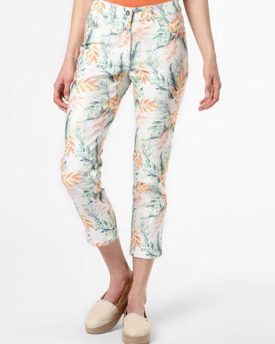 Białe spodnie z printem Zerres