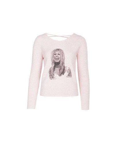 Шерстяной джемпер - розовый Brigitte Bardot