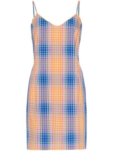 Sukienka mini z dekoltem w serek z paskiem Simon Miller