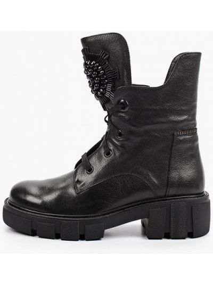 Кожаные ботинки - черные Just Couture