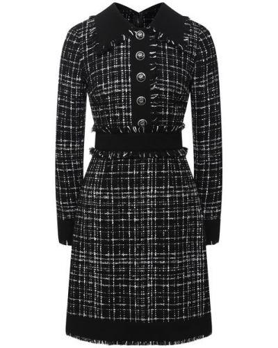 Шерстяное платье - черное Dolce & Gabbana