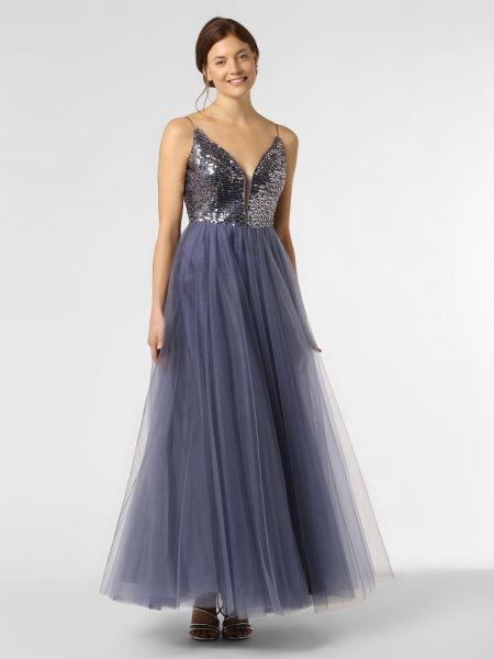 Niebieska sukienka wieczorowa z cekinami V.m.