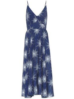 Платье миди с принтом айвори Paco Rabanne