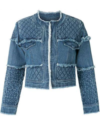 Синяя стеганая джинсовая куртка на молнии Andrea Bogosian