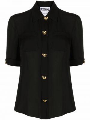 Koszula z jedwabiu - czarna Moschino