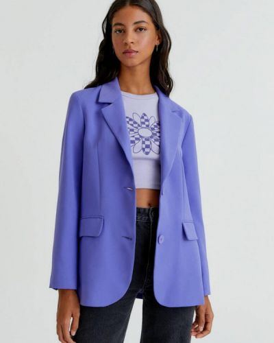 Фиолетовый зимний пиджак Pull&bear