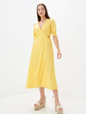 Платье с запахом - желтое Tiffosi