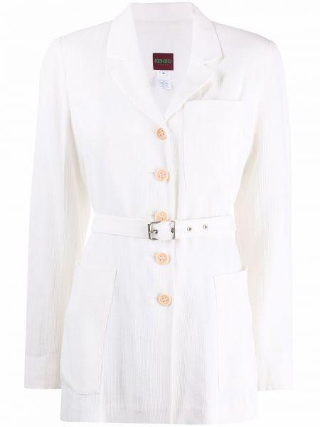 Белое пальто длинное Kenzo Pre-owned