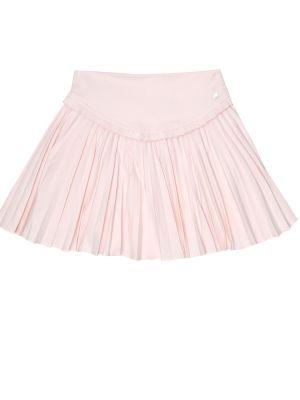 Różowy pofałdowany spódnica z wiskozy Tartine Et Chocolat