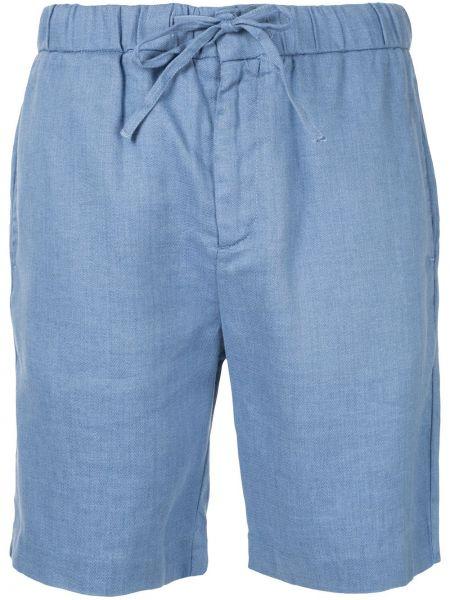 Niebieskie krótkie szorty bawełniane Frescobol Carioca