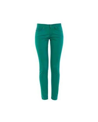 Джинсы-скинни зеленый синие Moschino Love