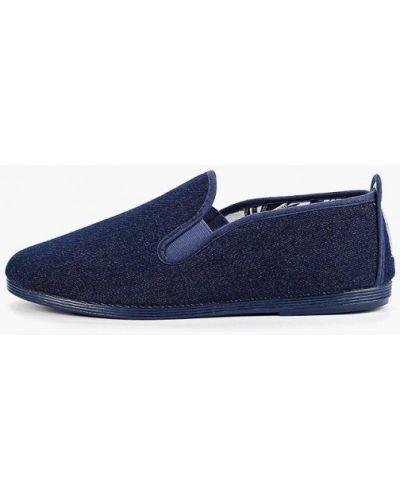 Слипоны испанский синий Flossy Style