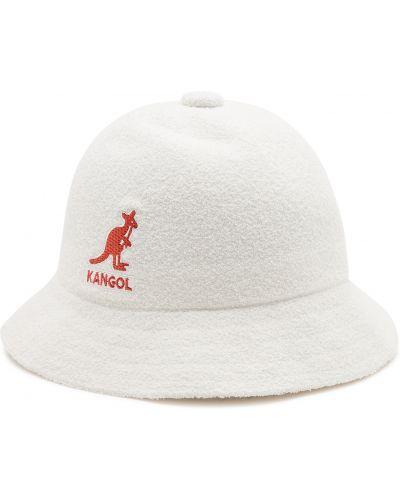 Biały kapelusz Kangol