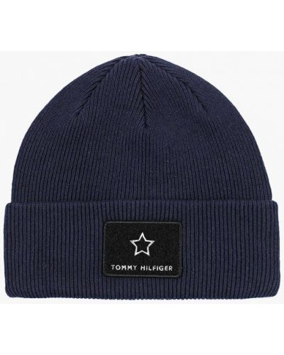 Синяя шапка весенняя Tommy Hilfiger