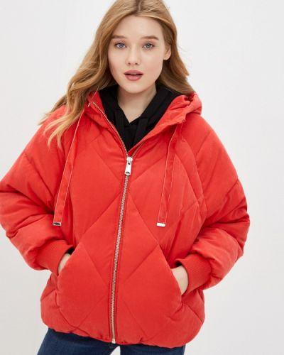 Теплая красная утепленная куртка Mavi