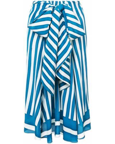 Ажурная синяя юбка макси Tome