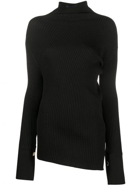 Черный вязаный свитер с воротником из вискозы Eudon Choi