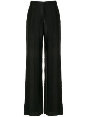 Свободные брюки черные на молнии Emporio Armani