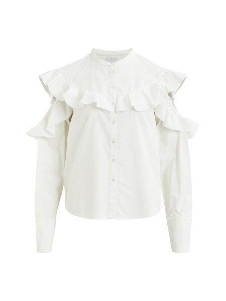 Рубашка с длинным рукавом с воротником-стойкой хлопковая Vila