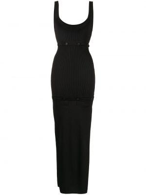 Платье с разрезом - черное Christopher Esber