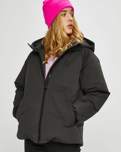 Утепленная куртка с капюшоном укороченная Adidas Originals