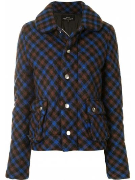 Синяя куртка в клетку с воротником Comme Des Garçons Pre-owned