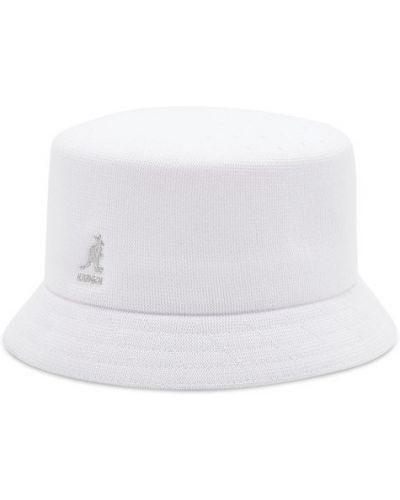 Biała kapelusz Kangol