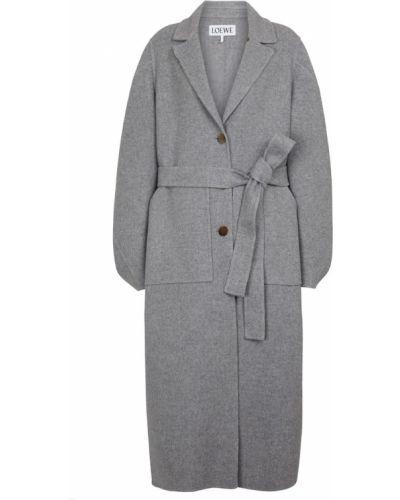 Серое кашемировое пальто Loewe