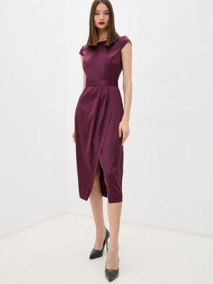 Платье футляр - бордовое Seam