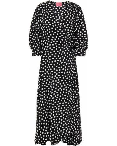 Шерстяное платье миди - черное Kate Spade New York
