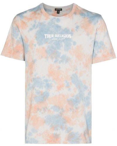T-shirt z printem - niebieska True Religion