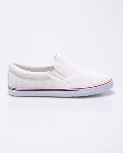 Белые слипоны текстильные Hasby
