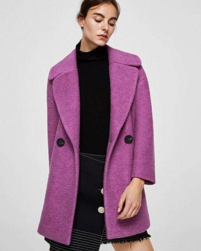 Фиолетовое пальто весеннее Mango