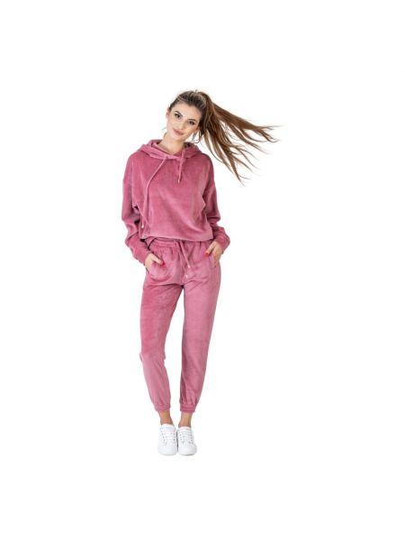 Różowy dres welurowy Swing Polish Fashion Concept