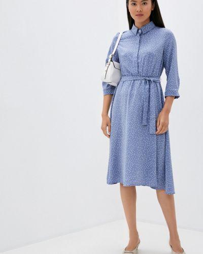 Синее прямое платье Imocean