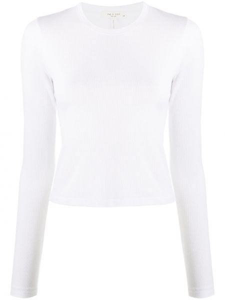 Bawełna bawełna biały top okrągły dekolt Rag & Bone