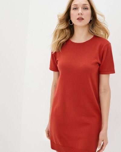 Вязаное трикотажное красное платье Rodier