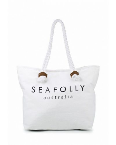 Белая пляжная сумка Seafolly Australia